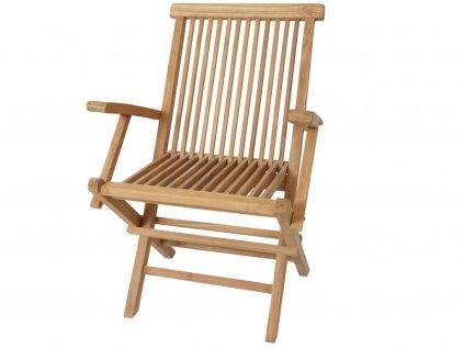 Zahradní židle Teak Dorset s područkami