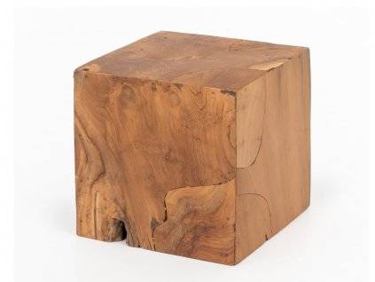 Stolek Cube Teak Natur