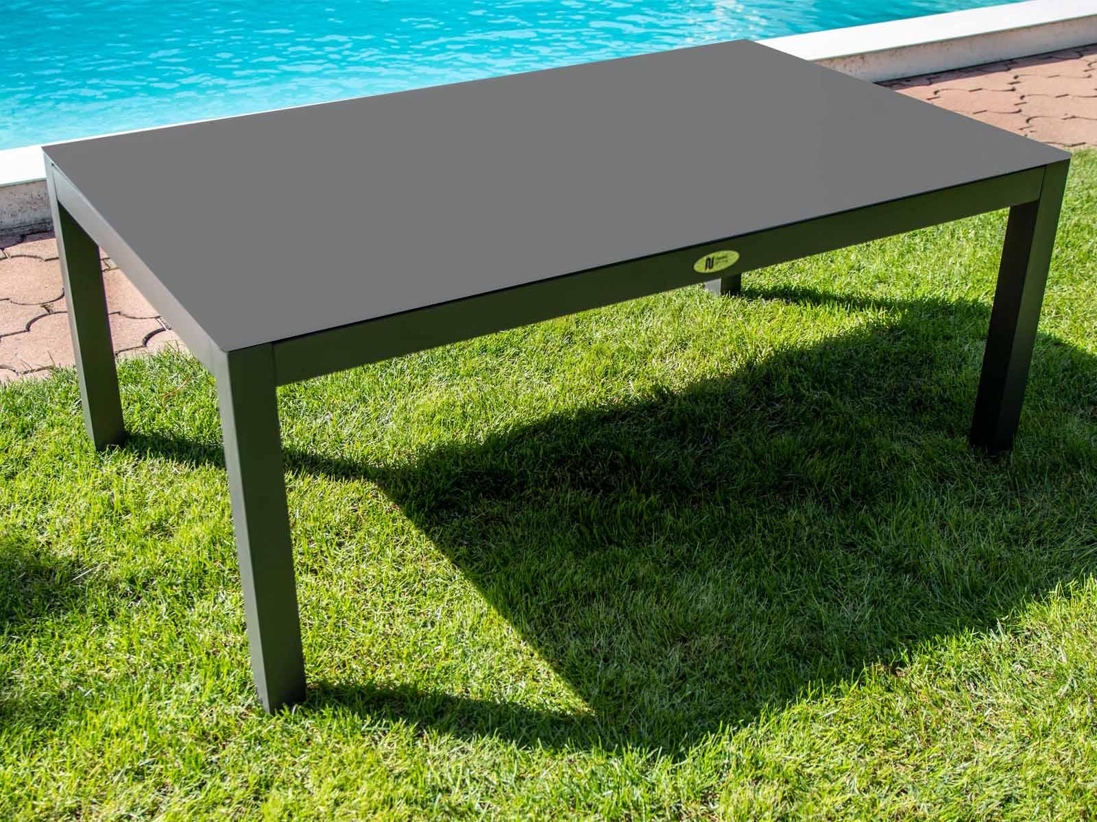 Nünning nábytek Zahradní hliníkový stolek šedý Montana Luxury