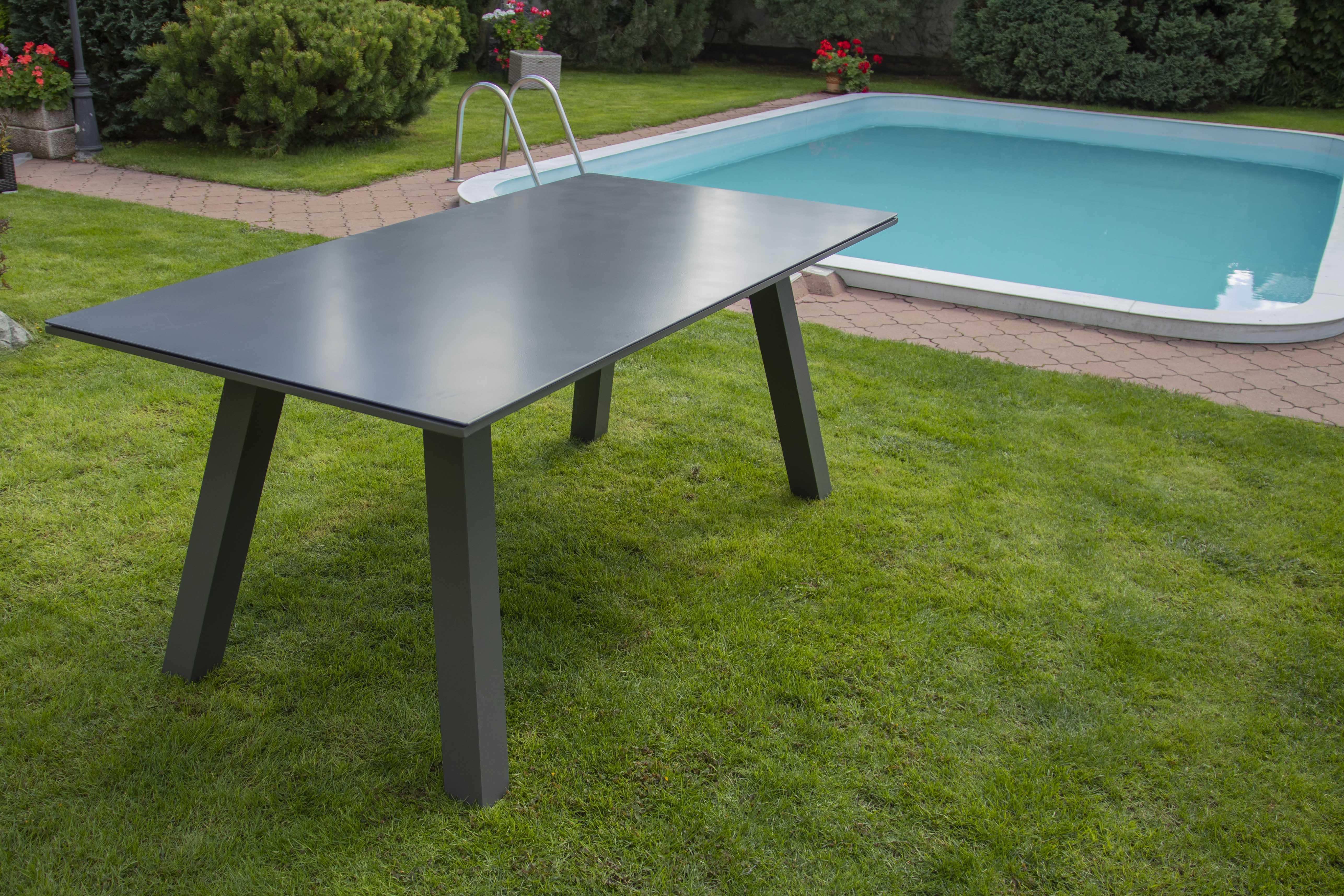 Nünning nábytek Zahradní hliníkový stůl California šedý 150cm
