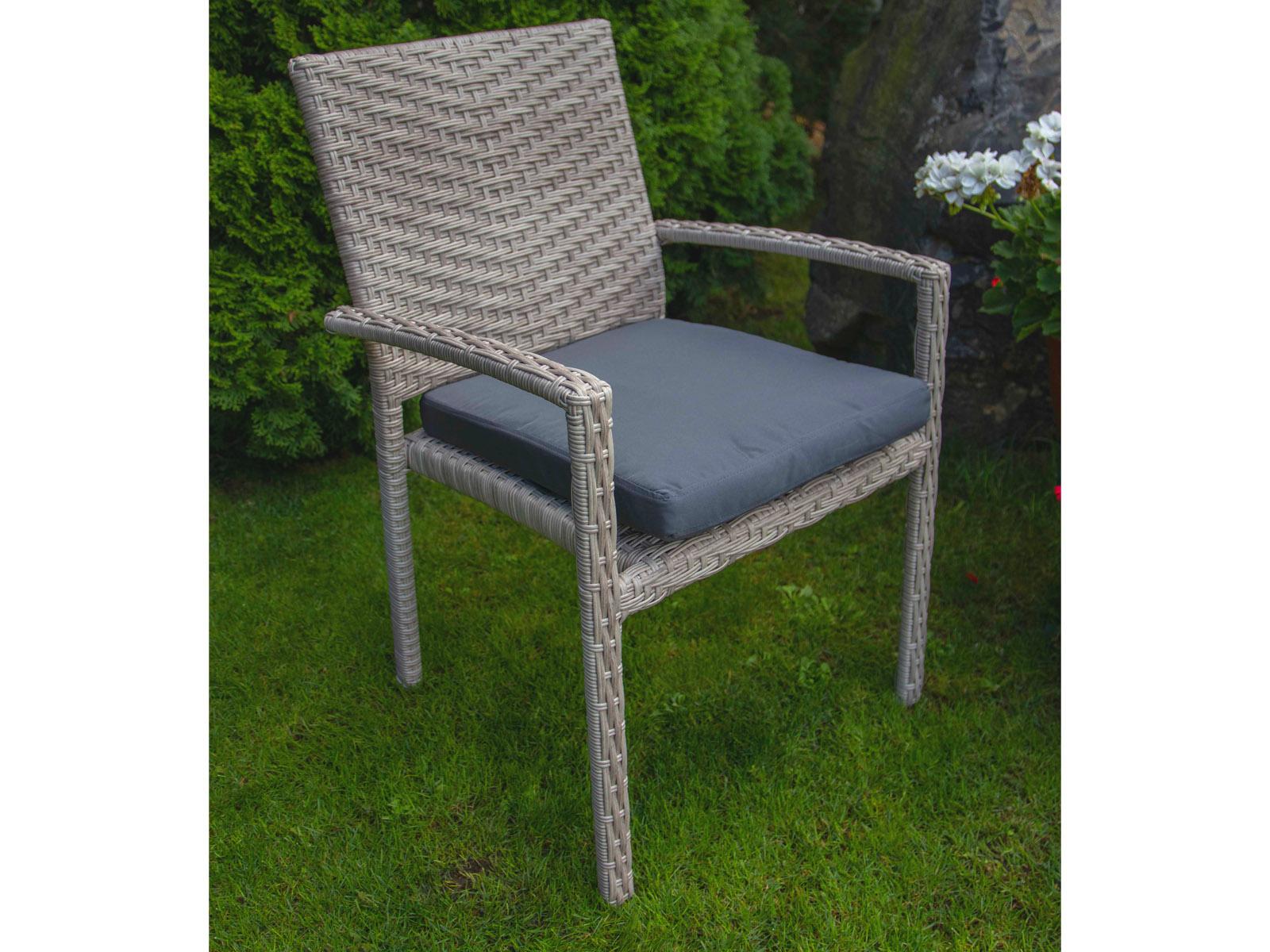 Umělý ratan Zahradní židle Horizon černá/krém