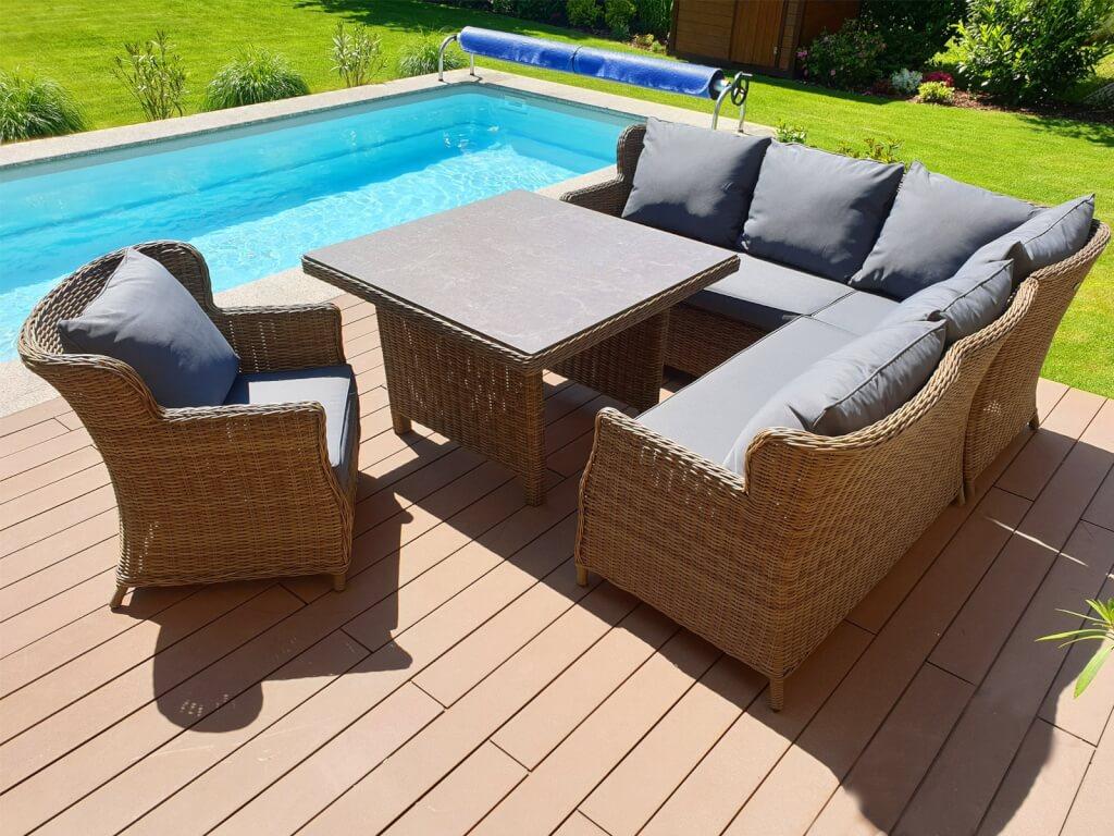 Umělý ratan zahradní sestava Bari XL Luxury