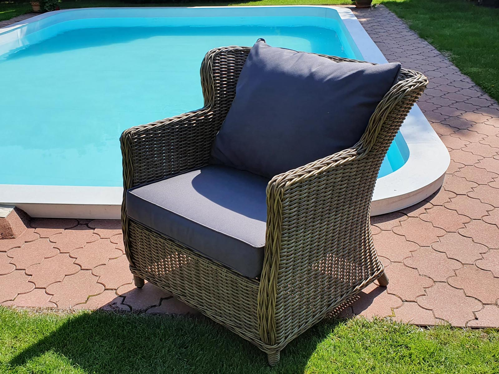 Umělý ratan Zahradní křeslo Bari Luxury
