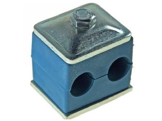 Držák hydraulických trubek pro dvě trubky 18 mm
