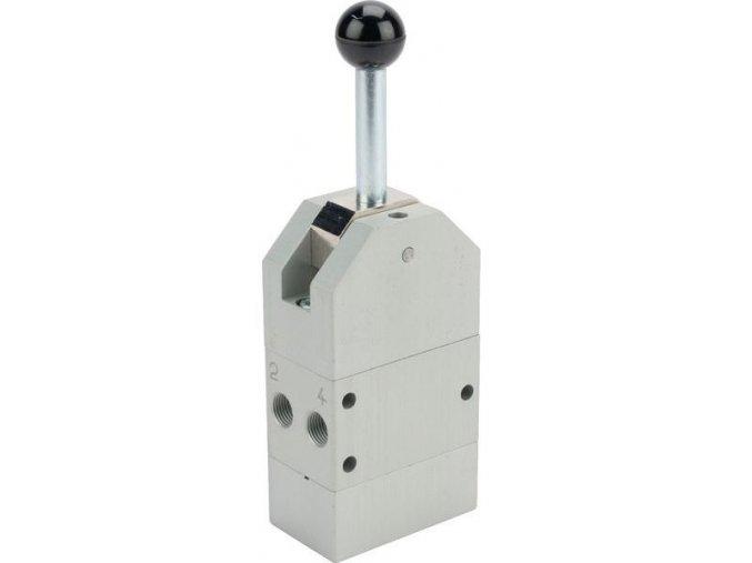 5/3 ruční pákový pneumatický ovladač se zpětnou pružinou