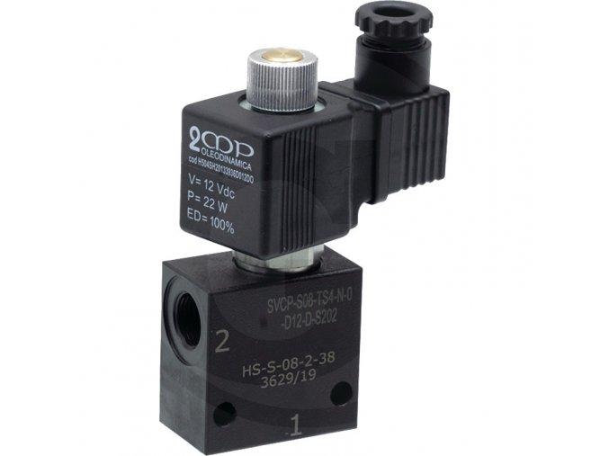 Dvoucestný uzavírací ventil 12V NO (otevřený)