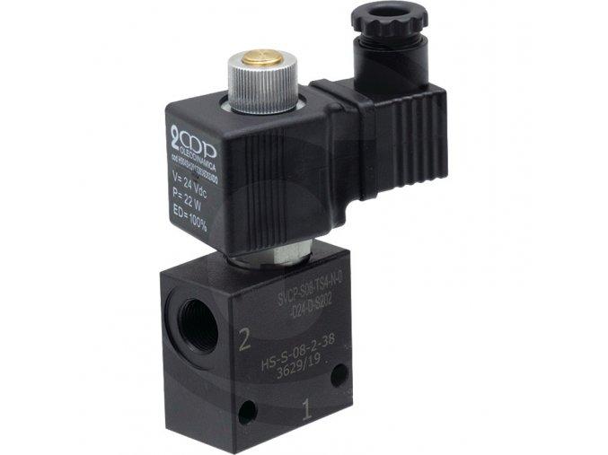 Dvoucestný uzavírací ventil 24V NO (otevřený)