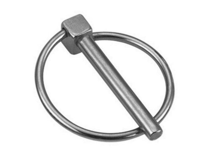 Kolík pojistný s kroužkem 8mm pozink