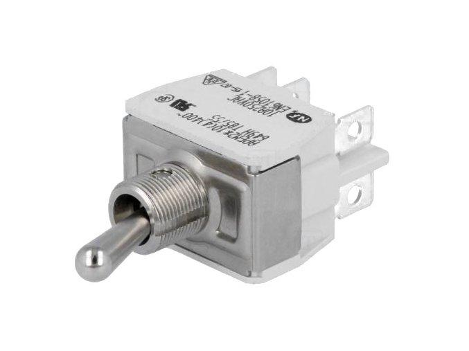 Páčkový přepínač 3 pozice 10A/250VAC (aretovaný ve všech pozicích)