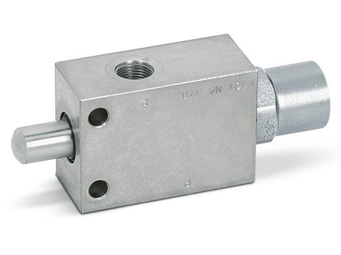 """Dvoucestný ventil NO (otevřený) - VF - 1/2""""BSP"""