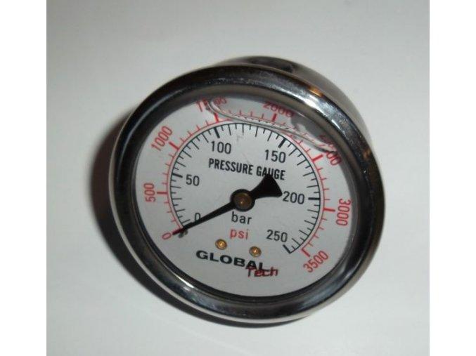 Manometr glycerinový Ø 63  0-250 bar, zadní vývod