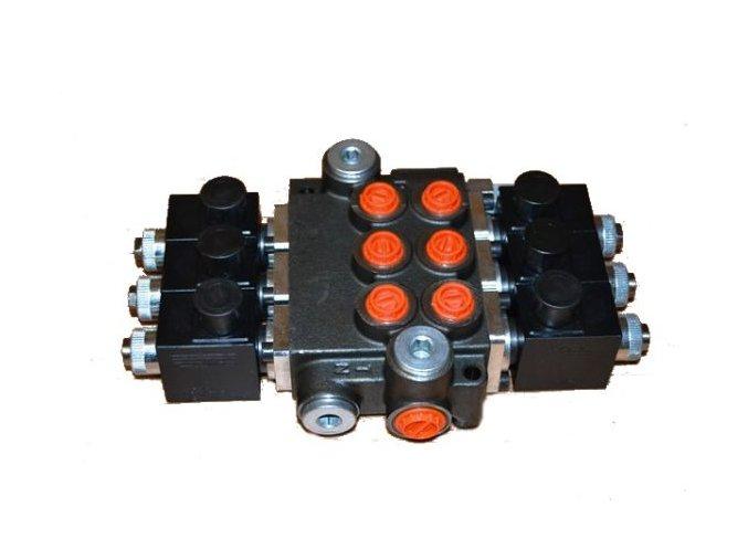 Hydraulický rozvaděč elektricky ovládaný 3/50 12 VDC
