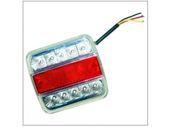 LED světlo zadní sdružené čtyřhranné s osvětlením SPZ