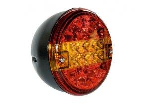 LED světlo zadní sdružené kulaté třídílné 9-33 V