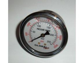 Manometr glycerinový Ø 63  0-400 bar, zadní vývod