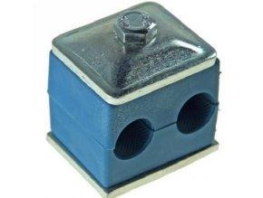 Držák hydraulických trubek pro dvě trubky 12 mm