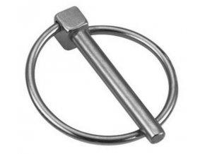 Kolík pojistný s kroužkem 6mm pozink
