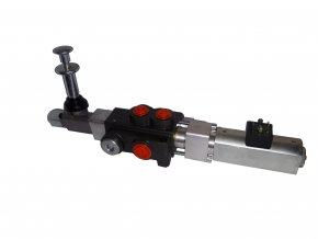 Hydraulický rozvaděč elektricky a mechanicky ovládaný 1/50 12VDC