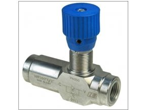 Škrticí ventil jednosměrný VRFU 90  1/2''