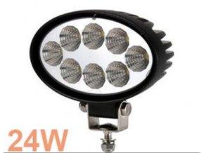 LED pracovní světlomet, reflektor, pracovní světlo elipsa 24 W