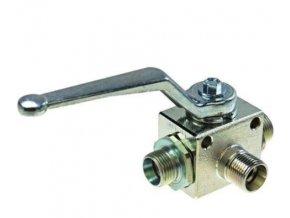 Třícestný kulový ventil přepínací BK3 15L  M22x1,5