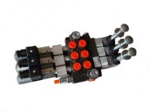Hydraulický rozvaděč elektricky a mechanicky ovládaný 3/50 24VDC