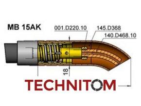 MB15AK vyhnuta hubice 145.D368