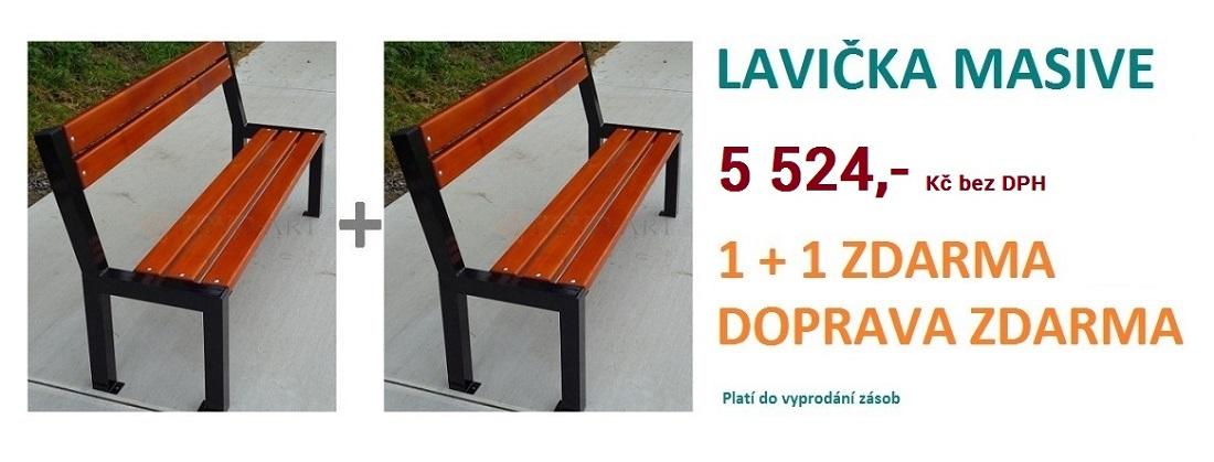 Lavička Masive 1+1