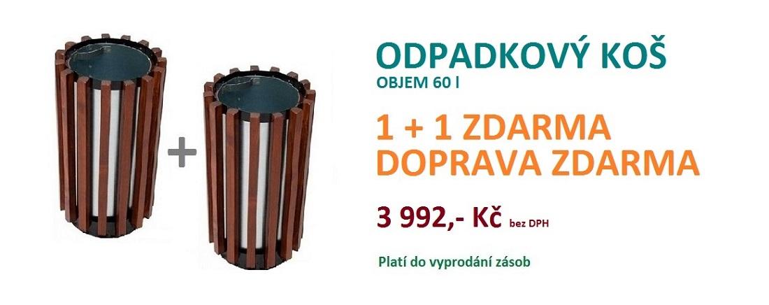 Odpadkový koš 1+1