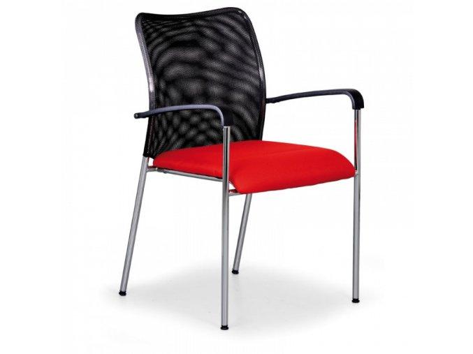Konferenční židle John Minelli, červená
