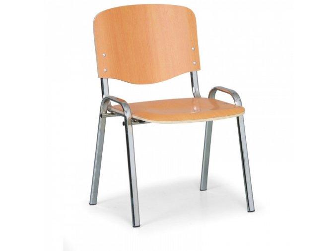 Dřevěná židle ISO, buk, konstrukce chromovaná