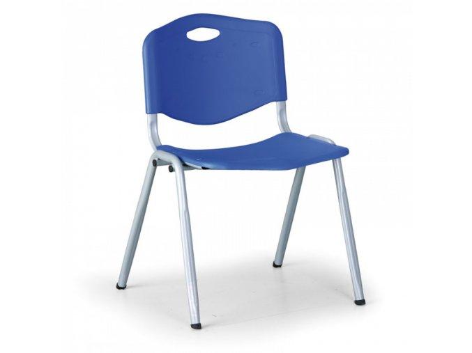 Plastová jídelní židle HANDY, modrá