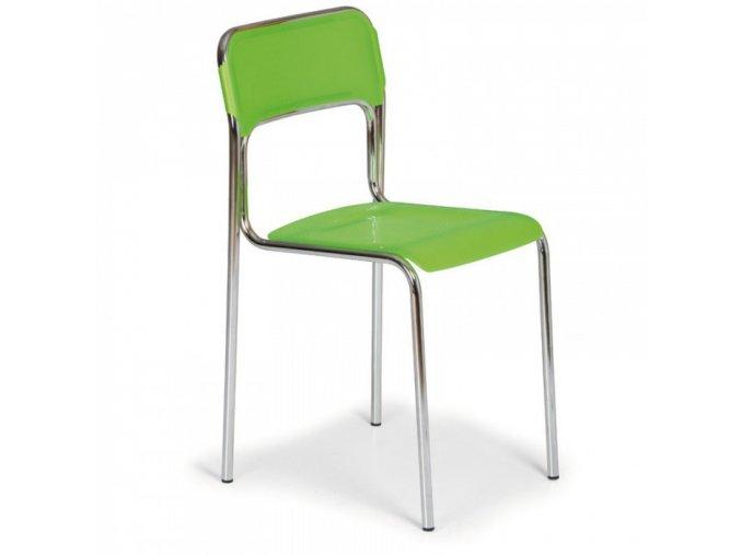 Plastová jídelní židle ASKA, zelená