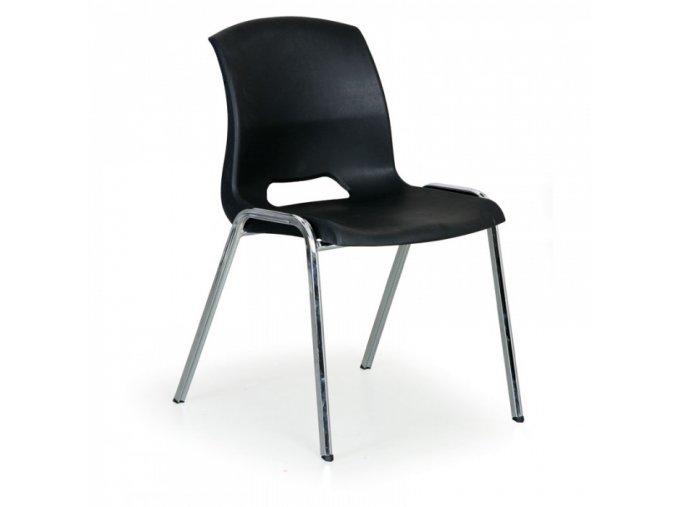 Plastová židle Cleo, černá