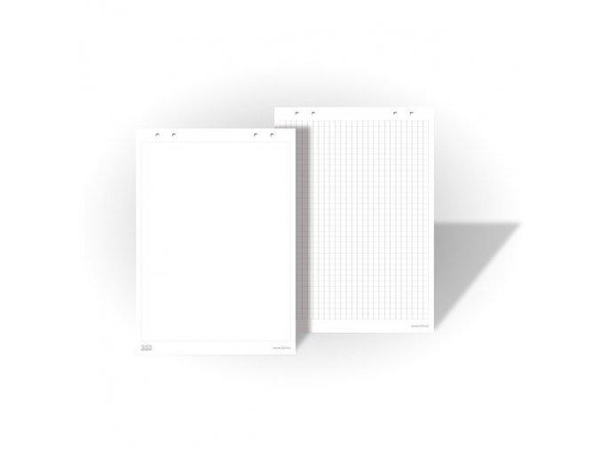 Papírové bloky pro flipcharty - bílé, 5x25 listů