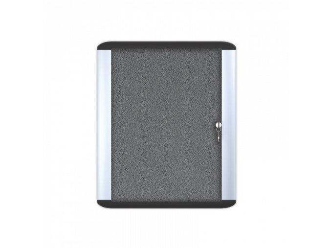 MASTER  1000x700 mm Informační vitrína , textilní, šedá