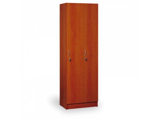 Dřevěná šatní skříň - dvojdílná,  calvados