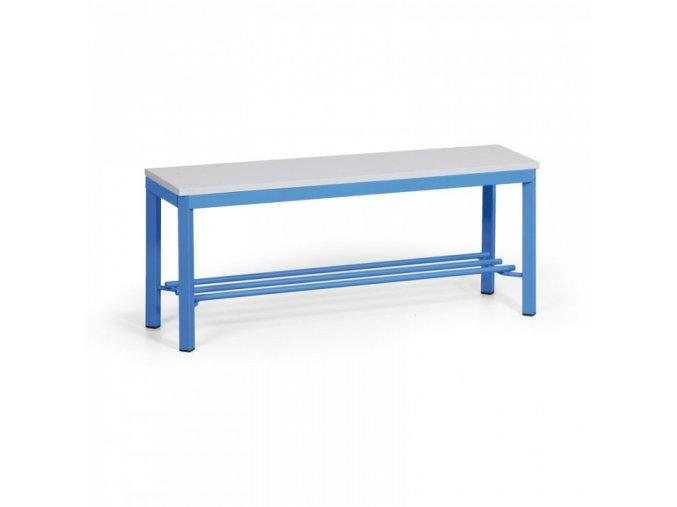 Šatní lavička s roštem, sedák - lamino, délka 1000 mm