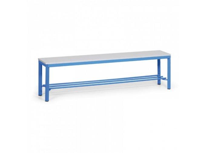 Šatní lavička s roštem, sedák - lamino, délka 1500 mm