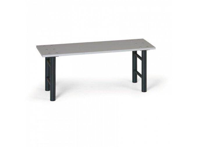 Šatní lavička, sedák - lamino, nohy antracit, 1 m