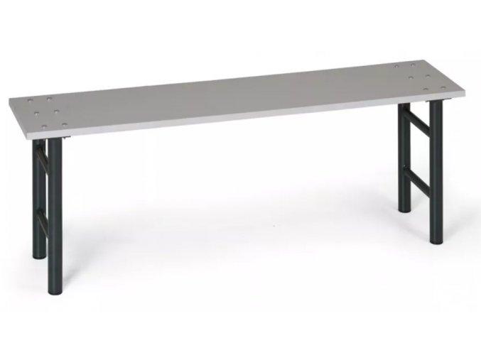 Šatní lavička, sedák lamino, nohy antracit, 1,5 m