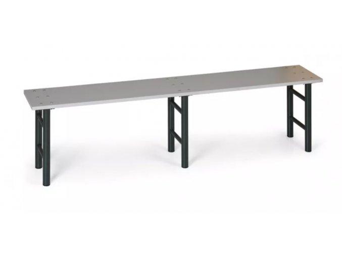Šatní lavička, sedák lamino, nohy antracit, 2000 mm