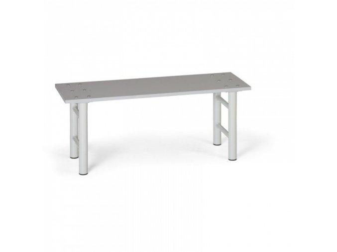 Šatní lavička, sedák - lamino, nohy šedé, 1 m