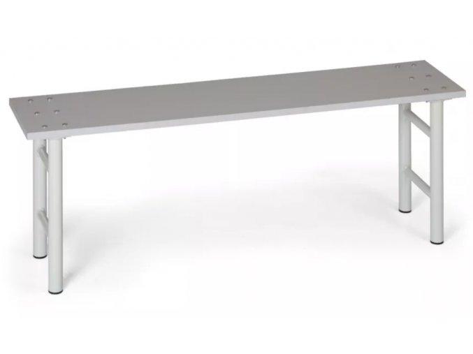 Šatní lavička, sedák lamino, nohy šedé, 1,5 m