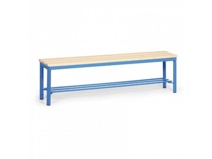 Šatní lavička s roštem, sedák - latě, délka 1,5 m