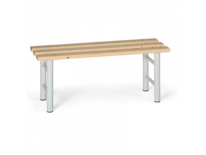 Šatní lavička, sedák - latě, šedé nohy, 1 m