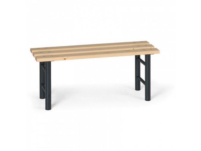 Šatní lavička, sedák - latě, nohy antracit, 1 m