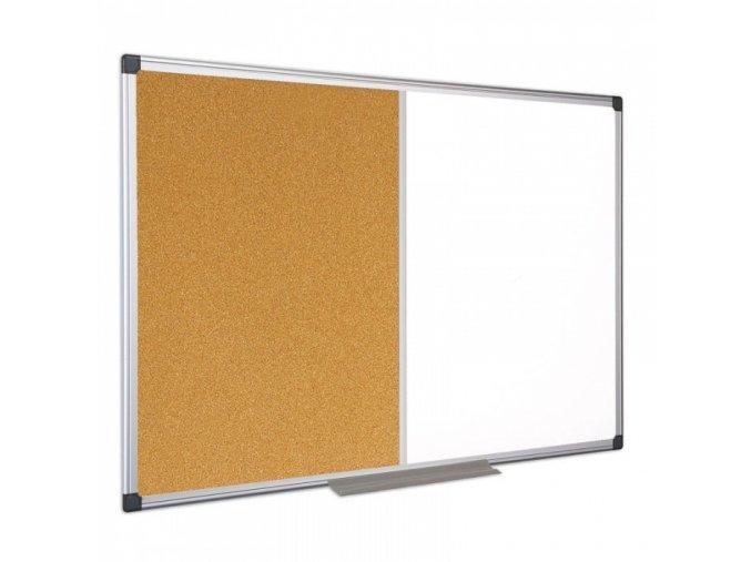 Kombi magnetická tabule nástěnka 120 x 90 cm