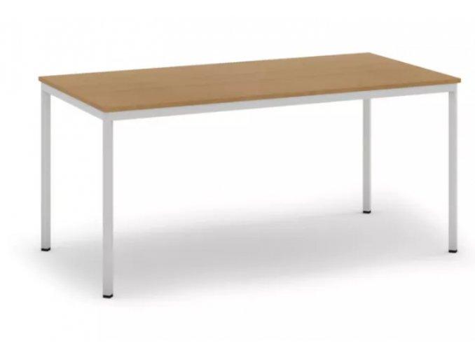Jídelní stůl, světlešedá konstrukce, 1600 x 800 mm, buk