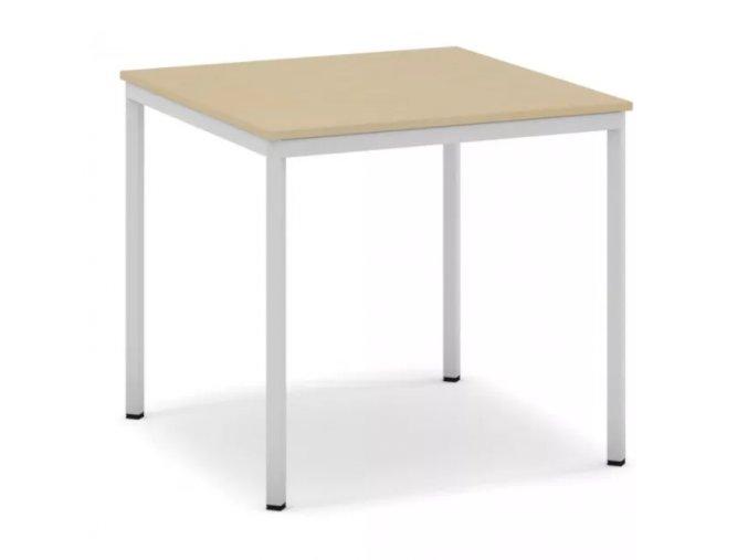 Jídelní stůl, světlešedá konstrukce, 800 x 800 mm, bříza